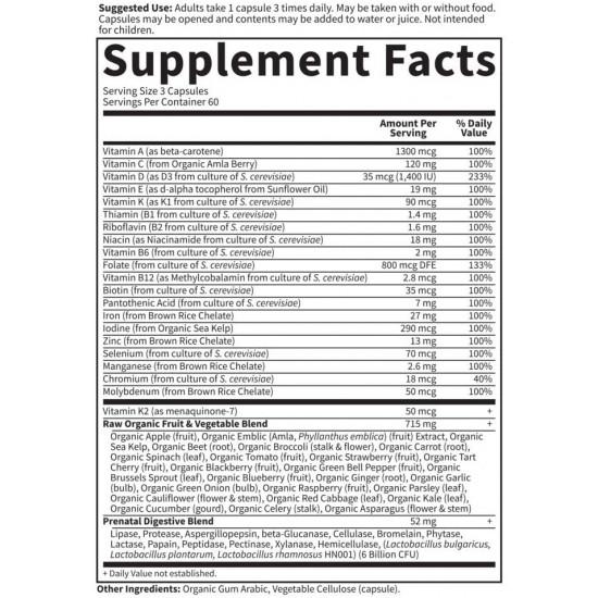 Vitamin Code Raw Prenatal 180 капсули | BioMall